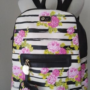 Luv Betsey Johnsons rosebud backpack